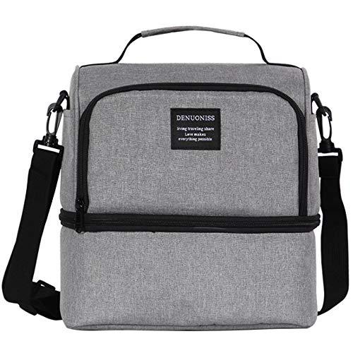 [FUPUONE] 保温保冷バッグ ランチバッグ 保冷 アウトドア ピクニック 350g 3カラー (ネイビー)