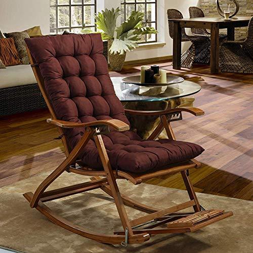 Coussin chaise longue, coussin chaise longue, matelas chaise longue avec manchon élastique au dos antidérapant pour jardin canapé intérieur extérieur Banc voiture Tatami (coussin uniquement) - brun 4