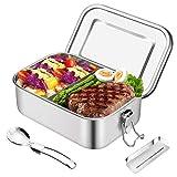 HB life Brotdose aus Edelstahl Lunchbox Bento Box Metall Dichte Brotdose Lunchbox für aus...