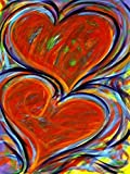 Pintura por números corazón DIY para colorear por números arte dibujo lienzo juego de pared hecho a mano Hobby decoración del hogar C7 40x50cm