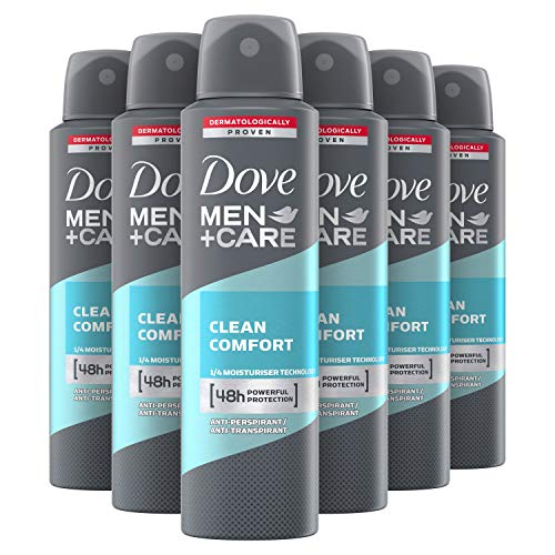 Dove Men+Care Clean Comfort Anti-transpirant Spray 6 x 150 ml Voordeelverpakking