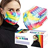 50pcs Adult Disposable Protective Fashion Mask Rainbow Color Rendering Mask 3 Layer Filter Elastic Ear Hook Skin-friendly Breathable Comfortable Personal Hygienic Safety Non-woven Fabric