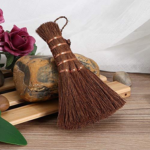 Giny Escoba de Mesa para el hogar, Cepillo de te, zarcillos Fibra de Coco Uso de Oficina para Limpieza de Tetera Tazas de te Limpieza Uso domestico