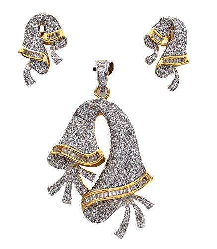 JewelryOnClick cobre chapado en oro Multi White Circonita cúbica