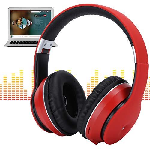 WOUPY Auriculares para Juegos Plegables, Auriculares USB retráctiles con micrófono, Computadoras portátiles con Tableta para teléfonos móviles TV(Red)