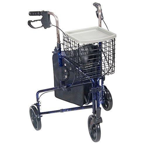 Drive Medical 10289bl Three-Wheel Rollator 1 Each, Blue