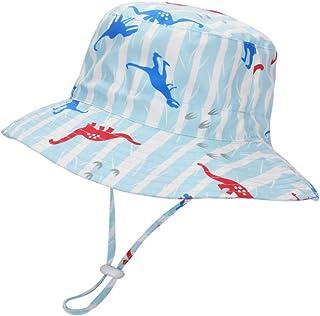 LACOFIA - Sombrero de Sol bebé Gorro Verano para niños Sombrero Playa de ala Ancha Proteccion Solar para niños con Correa Ajustable para la Barbilla