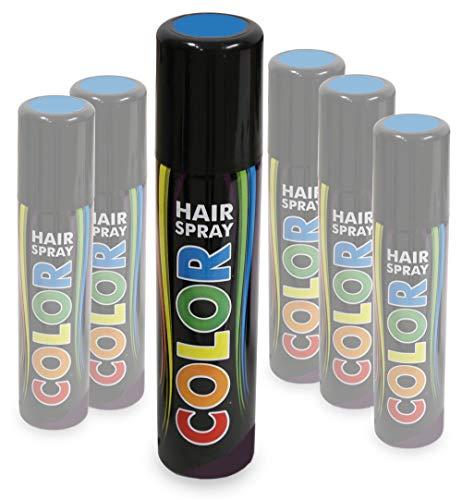 KarnevalsTeufel Hairspray Color buntes Haarspray Haarschmuck farbig (Blau)