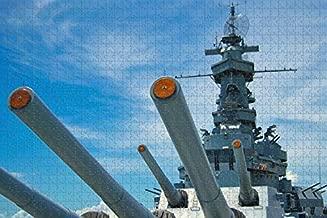 Mobile Battleship USS Alabama USA Jigsaw Puzzle for Adults 1000 Piece Wooden Travel Gift Souvenir
