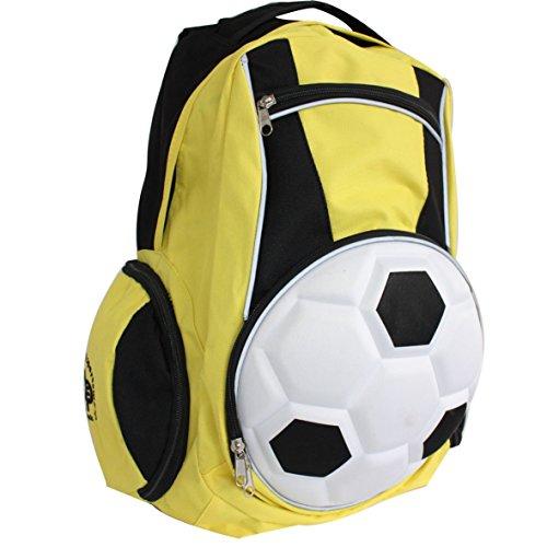 Diapolo Professionale Rucksack Fußball Funktionrucksack Tasche Sporttasche (Schwarz-Gelb)