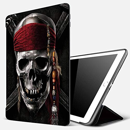 iPad 9.7 inch 2017/2018 Case/iPad Air/Air 2 Cover,Pirate Skull,PU Leather Shockproof Shell Stand Smart Cover with Auto Wake