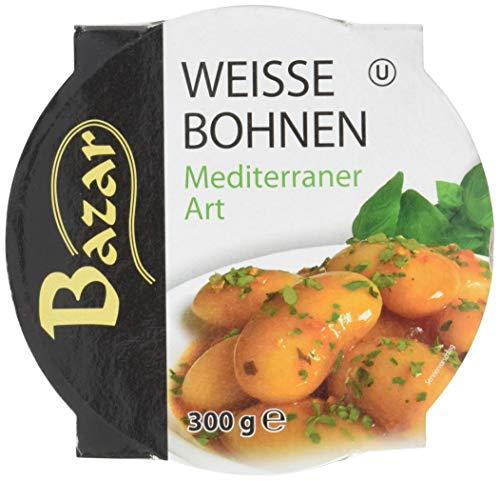 Bazar Koscher Weiße Bohnen Mediterraner Art, 6er Pack (6 x 300 g)