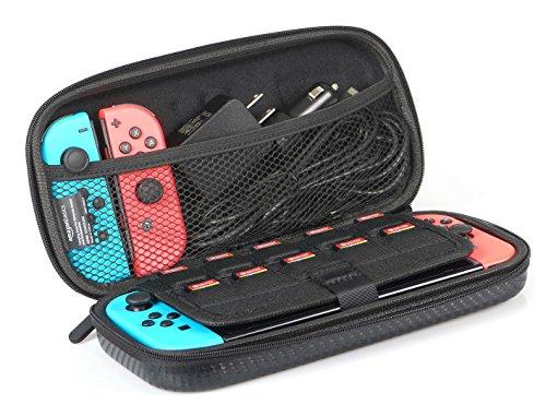 Amazon Basics Étui de transport pour Nintendo Switch et accessoires - 25,4 x 5,08 x 12,7 cm, noir