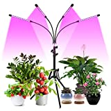 FREDI Plant Lamp LED 40 W 4 Heads Plant Light Grow Lamp with Stand Full Spectrum for Indoor Plants with Timer...