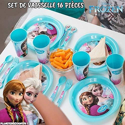 Vaisselle pour Enfants Frozen (16 pièces)
