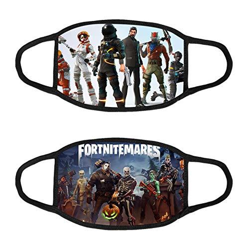 Fo-Rt-Ni-Te Safety Shield Protection Cloth Bandana Bandanas Breathable Cloth for Kids Boys Girls Children (2pack)