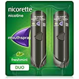 Nicorette QuickMist Mouth Spray, Freshmint Flavour, Nicorette Quickmist Duo Nicotine Spray, 1 mg