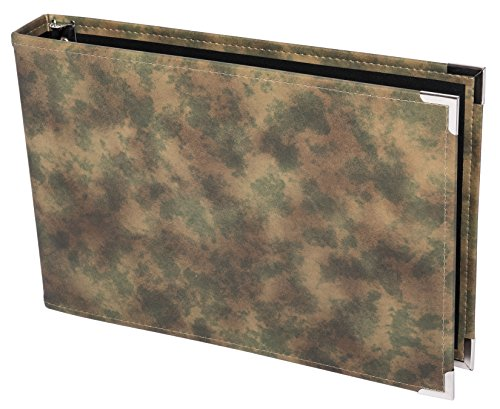 Premium 3UP 7 Ring Business Check Binder w Zip Pouch (Green Camo)