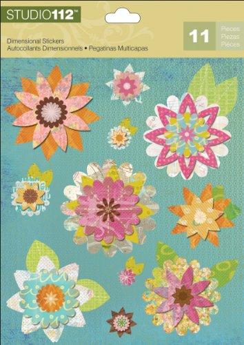 K&Company Studio 112 Floral Dimensional Stickers