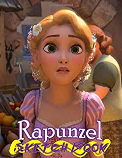 Rapunzel: Disney Tangled Themed Sketch Book Drawing Book 8.5