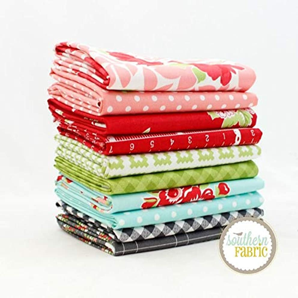 United Notions Little Snippets Half Yard Bundle (10 pcs) by Bonnie and Camille 18 x 44 inches (45.72cm x 111.76cm) Fabric cuts DIY Quilt Fabric