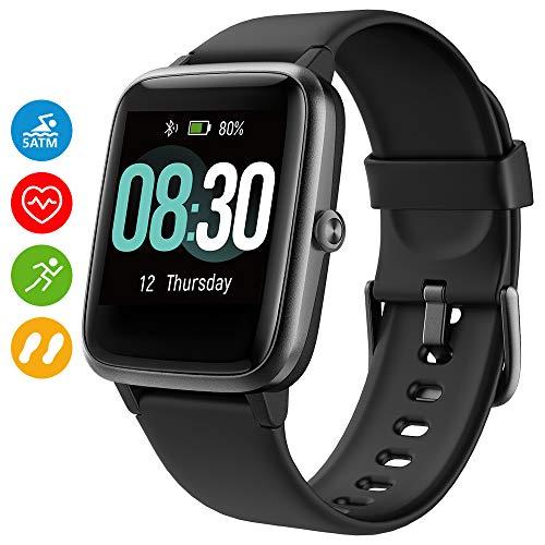 Montre Connectée,UMIDIGI Uwatch3 Montre Intelligente Femmes Homme Smartwatch pour téléphones Android iOS avec Moniteur De Sommeil Fréquence Cardiaque Toute La Journée 5ATM étanche