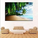 KWzEQ Imprimir en Lienzo Cartel Moderno de Olas de Playa y fotografías para el sofá de la Sala de estar80x120cmPintura sin Marco