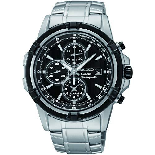 Seiko Solar Chronograph Herren-Uhr Edelstahl mit Metallband SSC147P1
