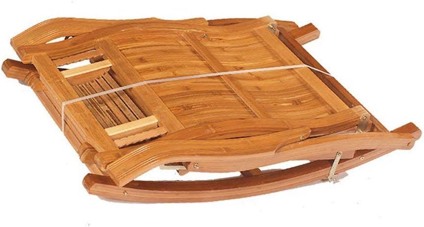 YLCJ Fauteuil à Bascule en Bambou Chaise Longue pour Adulte Chaise de Sieste Lazy Chair Home Leisure Chaise à Bascule de Balcon Balcon Repliable (Couleur: B) A