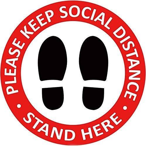Social Distancing Bodenaufkleber –...