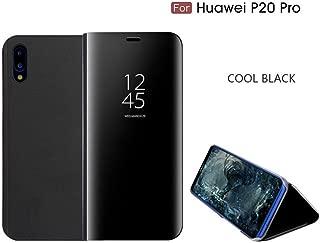 official huawei p20 pro smart view flip case - black