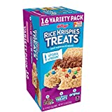 Rice Krispies Crispy Marshmallow Squares, Variety Pack, With Writable Wrappers 12.4 oz (Pack of 4)