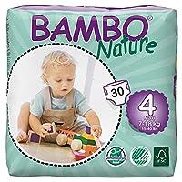 BAMBO Nature プレミアム紙おむつ マキシ 4号 テープ レギュラー 30枚入り