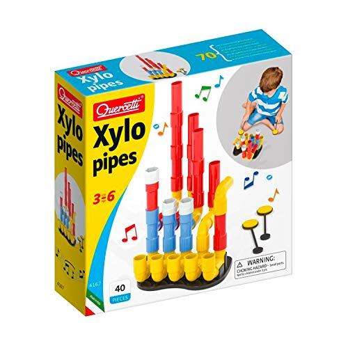 Quercetti - Xylopipes - Musical Kids Toy - 40Piece to Construct & Play - for Kids Ages 3 & Up