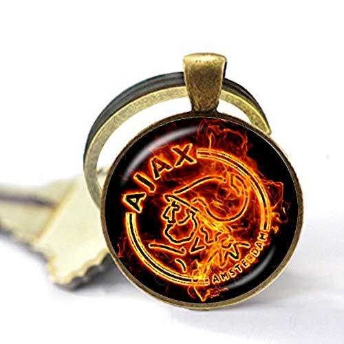 bab 25 mm Glas-Cabochon-Halskette, Ajax PSV Football Leagues Logo, Fußball-Club-Anhänger, Schlüsselanhänger Schmuck