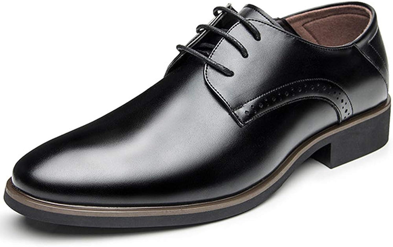 TAZAN Business-Business-Schuhe für Herren mit Oxford-Smoking-Brautkleid Derby-Leder Brock atmungsaktiv tragen Schwarzbraun    Schönes Aussehen