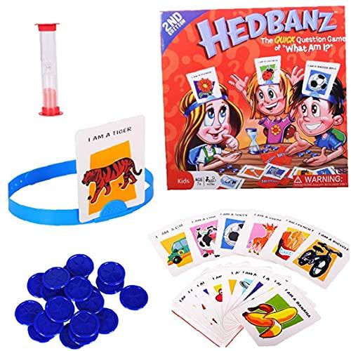 1 Pc Hedbanz Juego Guess Who I Am Juego de Mesa de Juego de la Familia los Personajes de Disney Juego de Cartas Juguetes