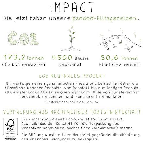 pandoo Kokosnuss Schalen 2er Set - 100% Naturprodukt - Plastikfreie Alternative - Handgefertigt und mit Kokosöl poliert - 3