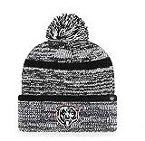 '47 Chicago Bears Copeland Black Stripe Cuff Beanie Hat with POM - NFL Cuffed Winter Knit Toque Cap
