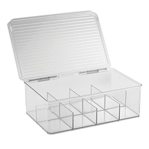 InterDesign Binz Tea Bag Organizer Box   Kitchen Cabinet Storage, Clear