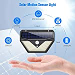 [4 Pack] Solar Lights Outdoor, Trswyop 136LED Solar Security Lights Motion Sensor with 3 Lighting Modes, 270°Wide Angle,1400 Lumens Solar Powered Lights Wall Lights for Outside 8