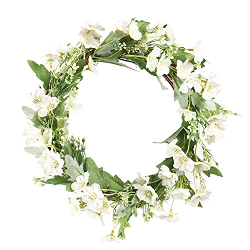 rongweiwang Herramienta de decoración hogar de la Flor Artificial de la Guirnalda Floral de la Guirnalda de la simulación de Tejidos Inicio Verde Verde Ornamento Ornamento