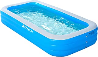 """Inflatable Swimming Pool, 103""""×63""""×23"""" Full-Sized Family Pool for Adults Babies Toddlers, Blow Up Pool for Kids, Kiddie Po..."""