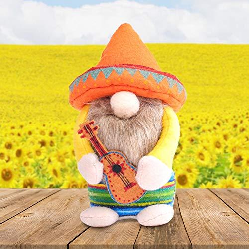 1/2 Piezas de decoración de muñeco de Peluche de gnomo de Pascua de Carnaval,muñeco de Primavera sin Rostro,decoración de Escritorio para el hogar, Figuras de Adorno para el día de San Patricio