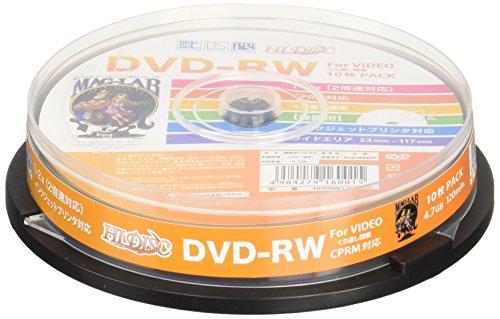 HI-DISC 録画用DVD-RW 2倍速 10枚 (CPRM)