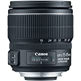 Canon EF-S 15-85mm f/3.5-5.6 IS USM Negro - Objetivo (17/12, 0,35 m, 3,5-5,6, 15-85 mm, 24-136 mm, 74°)