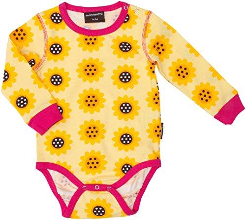 Maxomorra Baby Body Sonnenblume für Mädchen aus Ökobaumwolle, Alt Baby Grösse:74-80