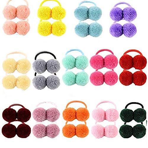 28 cintas elásticas para el pelo para niñas y bebés, de goma suave, multicolor