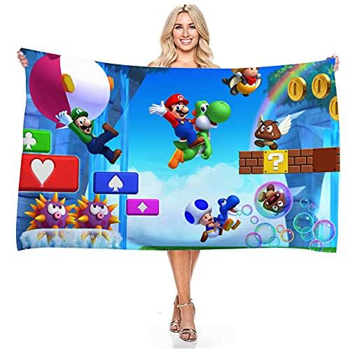LIYIMING Super Mario 04 - Toalla de baño (75 x 150 cm), diseño de Super Mario