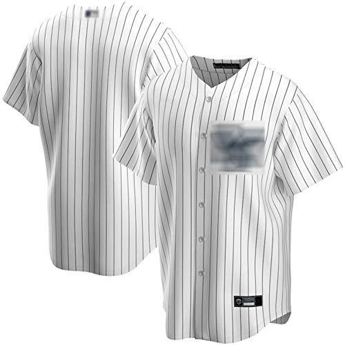 XXJJ Yankees Bangqiu - Camiseta de manga corta para hombre, diseño de réplica del equipo de fútbol blanco (talla XXL)